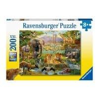 enfant casse-tête animaux savane 200 pièces puzzle