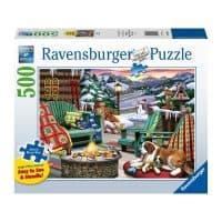 casse-tête adulte hiver montagnes ski 500 pièces puzzle