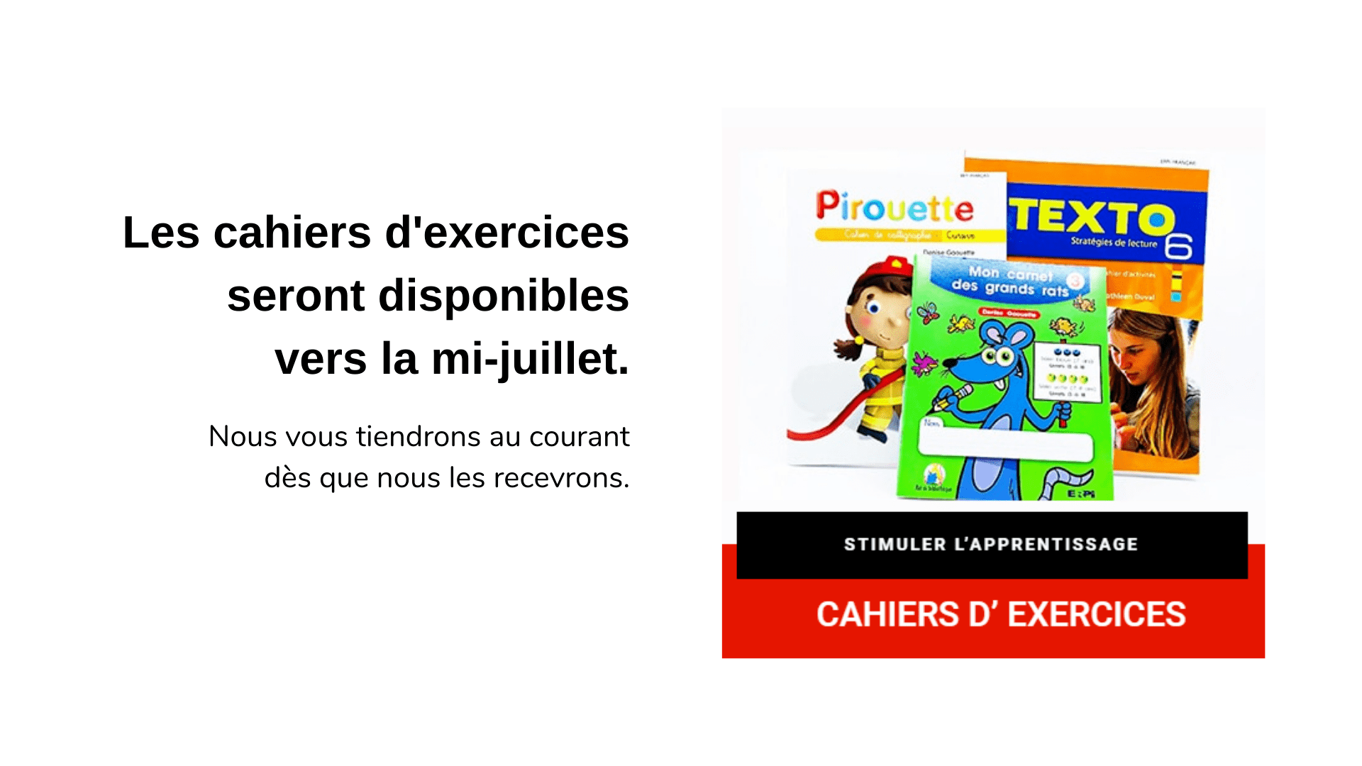 cahier exercice manuel scolaire