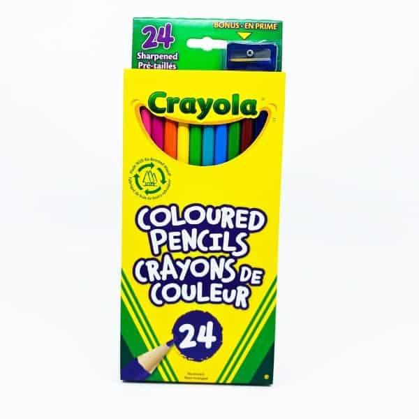 CRAYONS À COLORIER EN BOIS CRAYOLA 24 couleurs