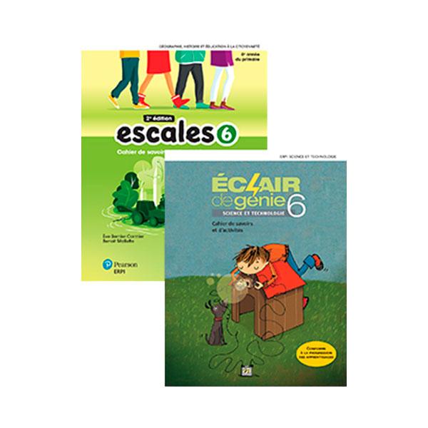 Combo ESCALES + ÉCLAIR DE GÉNIE 6e année