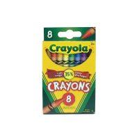 CRAYONS DE CIRE CRAYOLA 8 couleurs