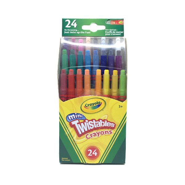 CRAYONS DE CIRE MINI TWISTABLES 24 couleurs